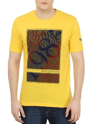 yellow cotton blend tshirt