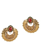 Gold Temple Jewellery Earrings - By