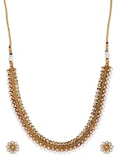 Gold And Faux-Pearl Necklace Set - Vastradi Jewels