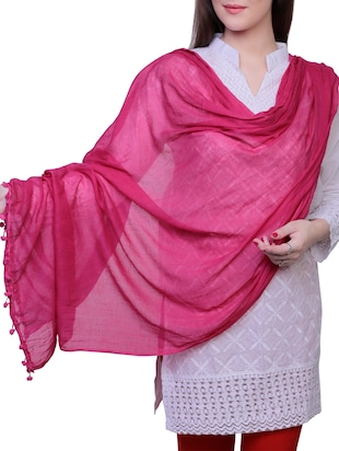 pink cotton dupatta