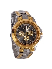 silver and gold toned stainless steel chronograph watch -  online shopping for Analog Watches