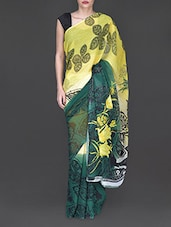 Floral Printed Saree - By