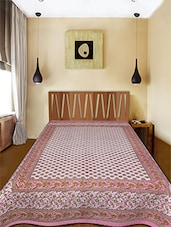 Reversible Floral Kantha Work Single Bed AC Quilt - Daisy Design - 1150593