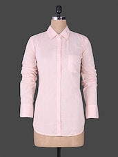 Solid Baby Pink Full Sleeve Shirt - House Of Tantrums