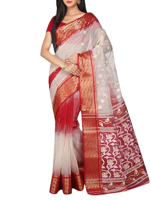natural silk blend tant saree