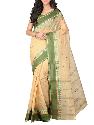 natural cotton tant saree