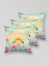 Lotus Print Polyester Cushion Cover - My Room