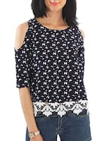 navy blue top -  online shopping for Tops