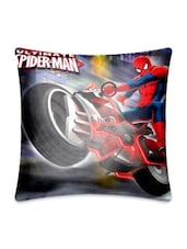 Multicolour Printed Poly Silk Ultimate Spider Man Cushion Cover - By