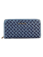 Blue Synthetic Fabric Wallet - By