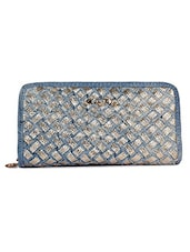 Silver Synthetic Fabric Wallet - By