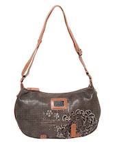 Brown Artificial Leather Shoulder Bag - By