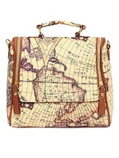 Map Print Sling Messenger Bag - By
