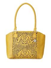 Yellow Cut Work Design Handbag - Donna & Drew