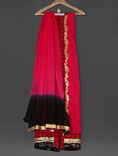 Embroidered Magenta Georgette Suit Set - Sarees Bazaar
