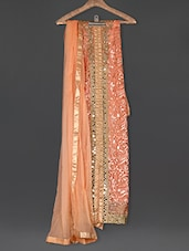 Embroidered Peach Georgette Suit Set - Sarees Bazaar