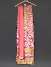 Embroidered Pink Georgette Suit Set - Sarees Bazaar
