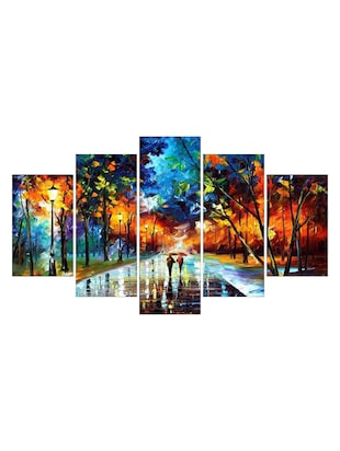 multi colored paper painting set of 5