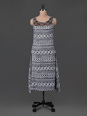 Monochrome Printed Lacy Midi Dress - M Expose