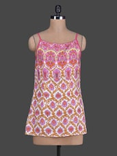 Printed Camisole Neck Rayon Tunic - Tops And Tunics