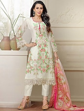 White Suit- Buy White Salwar Suit, Ladies Suits Online in India