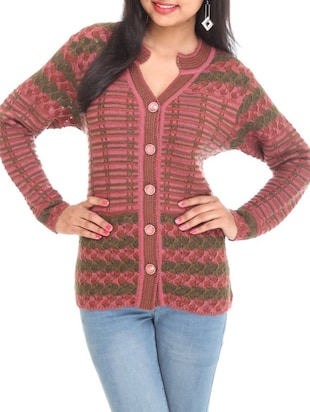 multi acrylic cardigan -  online shopping for Cardigans