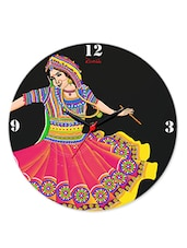 Multicolour Garba Glass Clock - Kolorobia - Decor