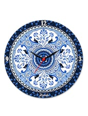 Blue Buds Glass Clock - Kolorobia - Decor
