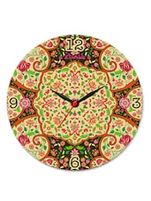 Multicolour Mughal Dark Glass Clock - Kolorobia - Decor