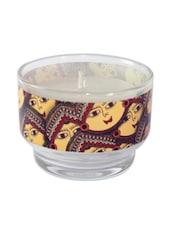 Multicoloured Glass Candle Holder - By