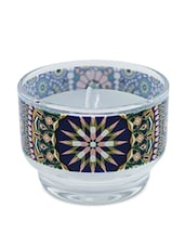 Multicolour Diamond Pattern Glass Wax Candle Holder - Kolorobia - Decor