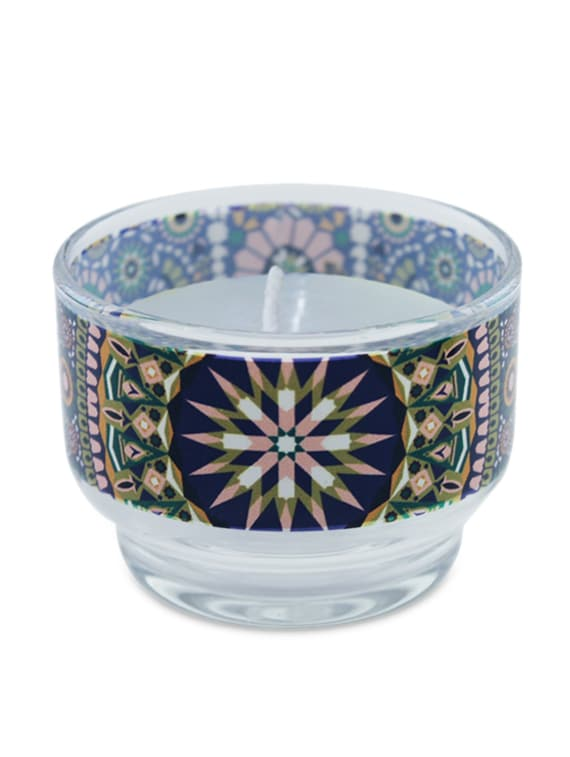 Multicolour Diamond Pattern Glass Wax Candle Holder - Kolorobia - Decor