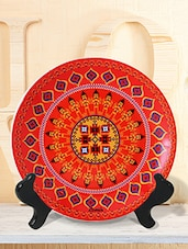 Orange  ikat ceramic plastic plate -  online shopping for Wall Hanging