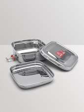 Silver Stainless Steel School Lunch Box - By