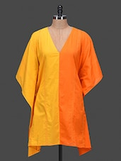 Yellow Plain Cotton Kurta - NAYO