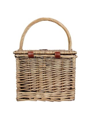 brown wood basket