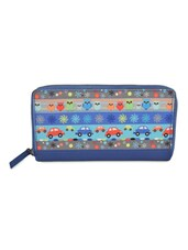 Blue Quirky Multi Print Wallet - THE BACKBENCHER