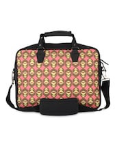 Black And Pink Quirky Monkey Print Laptop Bag - THE BACKBENCHER