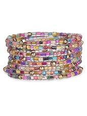 Multicolour Metallic Warp Bracelet - By
