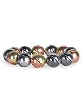 Multicolour Metallic Stretchable Bracelet - By