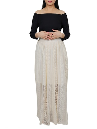 Set of crop top with long skirt