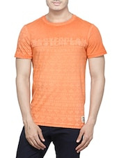 orange cotton tshirt -  online shopping for T-Shirts