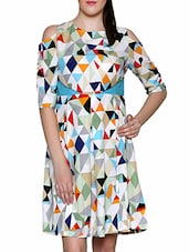 multi colored polyester dress -  online shopping for Dresses