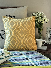 Beige Cotton Cushion Cover - By - 1157799
