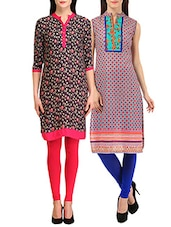 Pack Of 2 Cotton Printed Kurtas - By