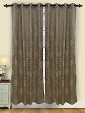 Set Of 2 Floral Pattern Polyester Door Curtain - By - 1157875