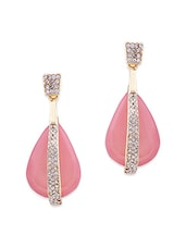 Pink Metal Drop Earring - By