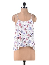 White Rayon Printed Camisole - By