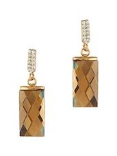 Gold Embellished Earrings - THE BLING STUDIO