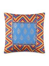Multicolored Pure Cotton Sangenari Printed Cushion Cover Set - By